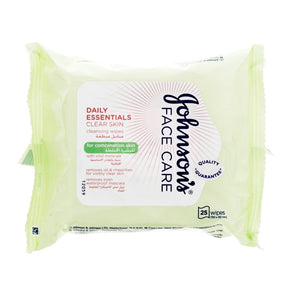 Johnson's Daily Essentials Cleansing Wipes for Combination Skin 25's