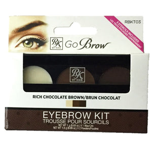 Ruby Kisses Go Brow Eyebrow Kit Rich Chocolate Brown
