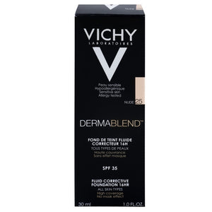 Vichy Derma Blend Fluid Corrective Foundation SPF35 Nude 25 1.0 fl oz, 30 mL