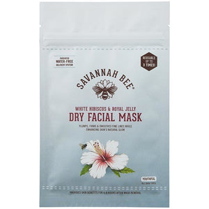 Savannah Bee White Hibiscus & Royal Jelly Dry Facial Mask