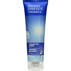Desert Essence Organics Fragrance Free Shampoo 8 fl oz, 237 mL