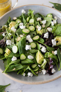 Simple Side Salad with Lemon-Maple Vinaigrette