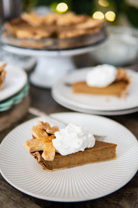 Smoked Pumpkin Pie with Eggnog Whipped Cream