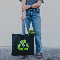 FF Recycle Black Canvas Market Totes
