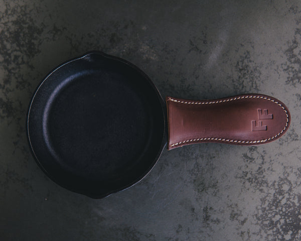 FF Leather Cast Iron Handle Cover