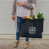 Black Canvas Market Totes w/ Logo