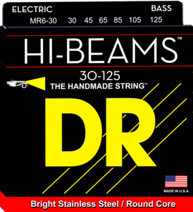 DR Strings MR6-30 HI-BEAM Stainless Round Core Bass Strings, 6-String 30-125