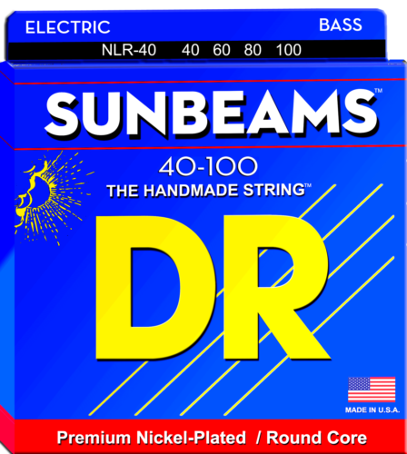 DR Strings NLR-40 Sunbeams Nickel Bass Guitar Strings, Light 40-100