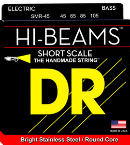 DR Strings SMR-45 HI-BEAM Short Scale Round Core Bass Strings 45-105