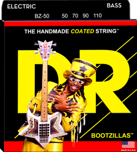 DR Strings BZ-50 BOOTZILLAS - CLEAR Coated Stainless Steel Bass Strings, Heavy 50-110