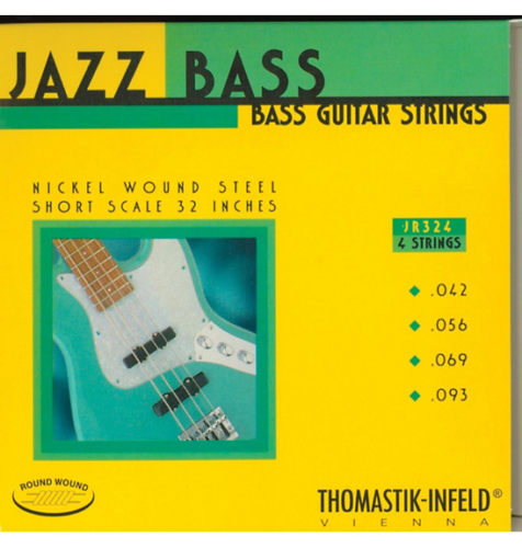 Thomastik-Infeld JR324 T-I Jazz Rounds Bass Guitar Strings - Short Scale