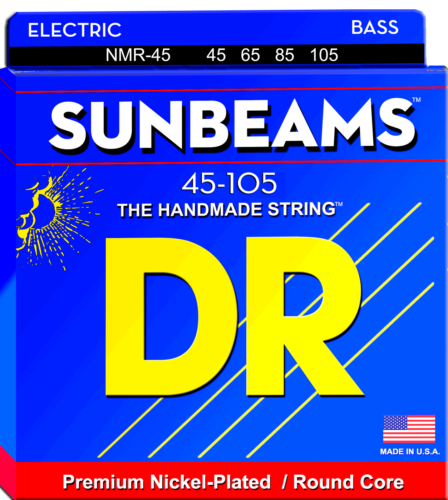 DR Strings NMR-45 Sunbeams Nickel Plated Bass Strings, 45-105