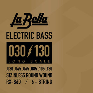 La Bella RX-S6D Rx Stainless Steel Bass Strings, 6-String 30 45 85 105 130