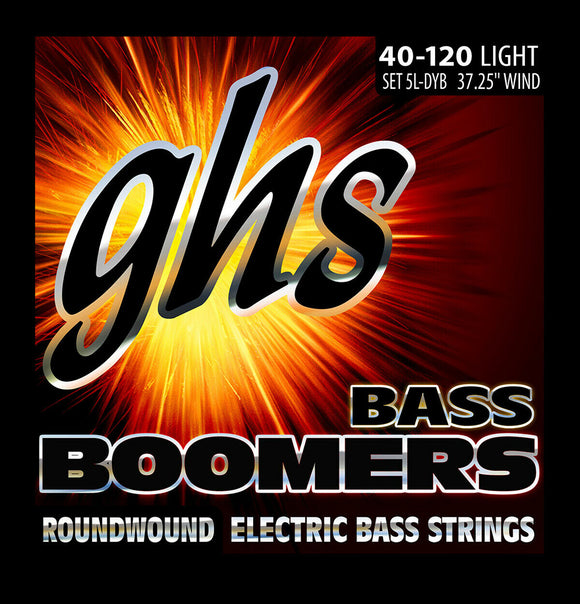 GHS 5L-DYB Bass Boomers Bass Guitar Strings, 5-String, Light 40-120