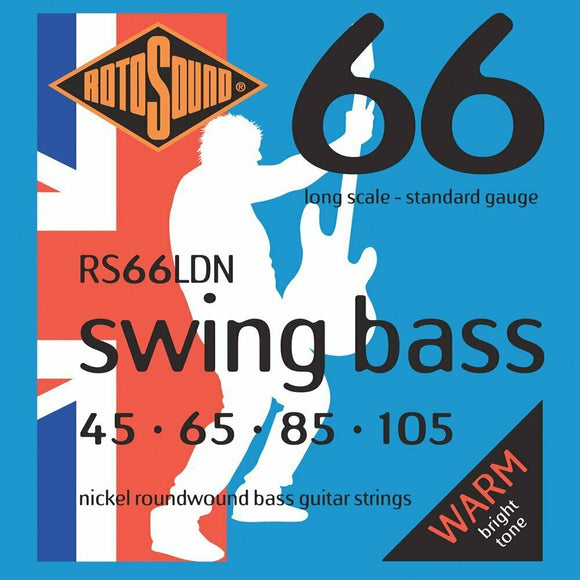 Rotosound RS66LDN Swing Bass 66 Bass Guitar Strings - NICKEL