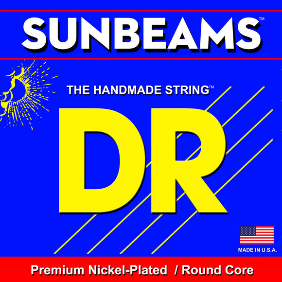 DR Strings NLR5-40 SUNBEAMS Nickel Bass Strings, 5-String, Light 40-120