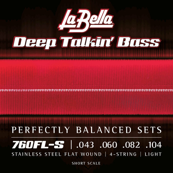 La Bella 760FL-S Deep Talkin Bass Flats, Short Scale, Light 43-104