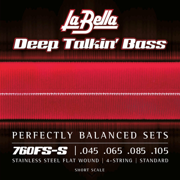La Bella 760FS-S Deep Talkin Bass Stainless Steel Flats, Short Scale, 45-105