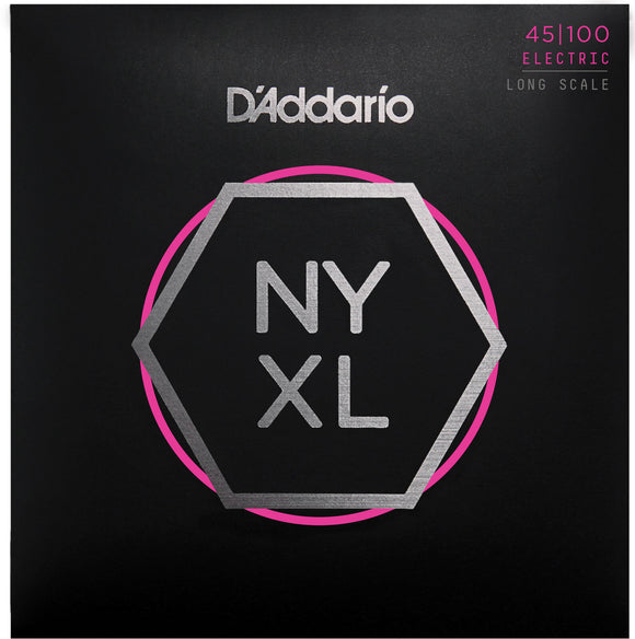 D'Addario NYXL45100 Nickel Wound Bass Strings, Light 45-100