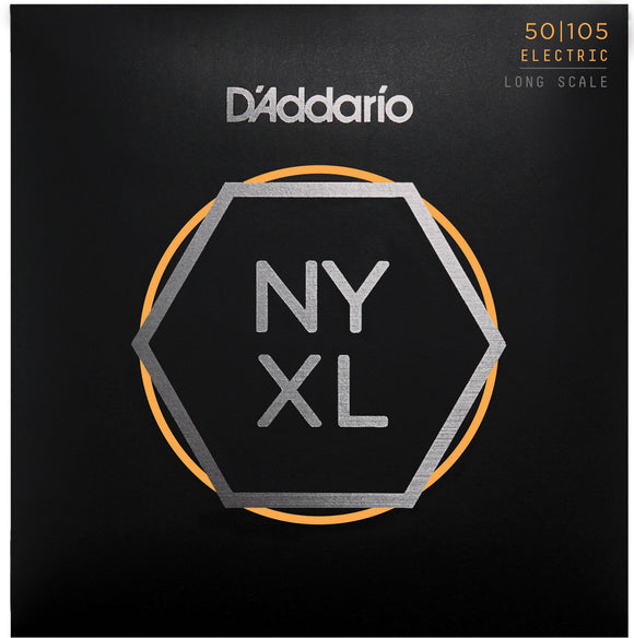 D'Addario NYXL50105 Nickel Wound Bass Strings, Medium Gauge 50-105