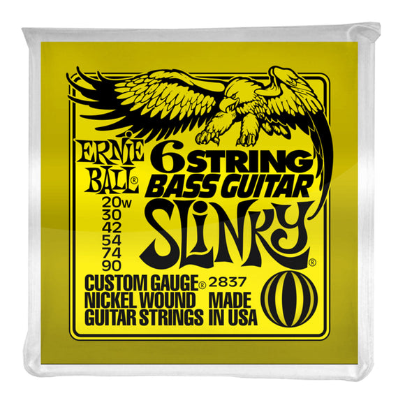 Ernie Ball 2837 Slinky 6-String w/ small ball end 29 5/8 scale Bass Guitar Strings - 20-90 Gauge