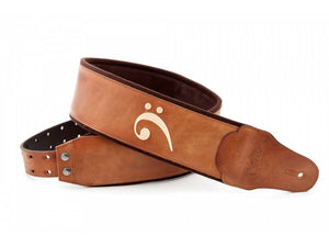 Premium Bass Strap: Bassman Series - Fakey Woody with Bass Clef