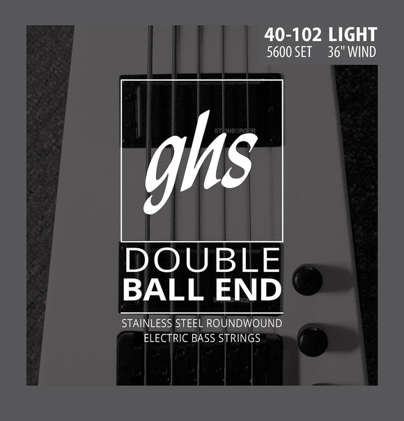 GHS 5600 Double Ball End Roundwound Bass Strings 40-102