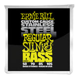 Ernie Ball 2842 Regular Slinky Stainless Steel Electric Bass Strings - 50-105 Gauge