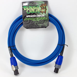 Tsunami 10ft Speaker Cable - Blue - Speakon Connectors