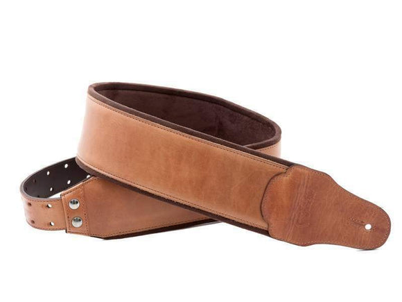 RightOn! BASSMAN Strap: Smooth Woody - Hand Crafted in Spain