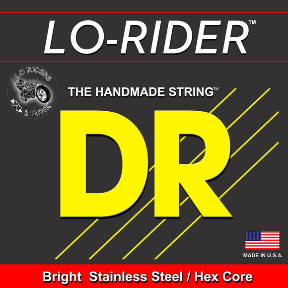 DR Strings TMH5-45 LONG NECKS - Tapered Stainless Steel Bass Strings: 5-String Medium 45-125