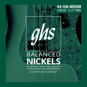 GHS 4700 Balanced Nickels Bass Guitar Strings, Short Scale 44-106