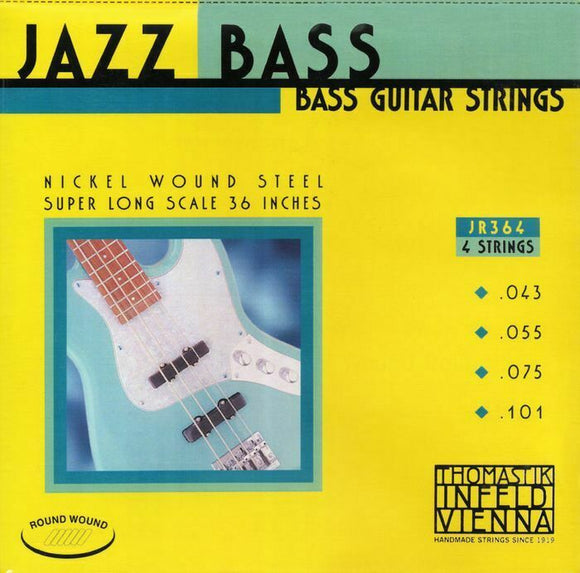 Thomastik-Infeld JR364 T-I Jazz Rounds Bass Guitar Strings, Extra Long Scale