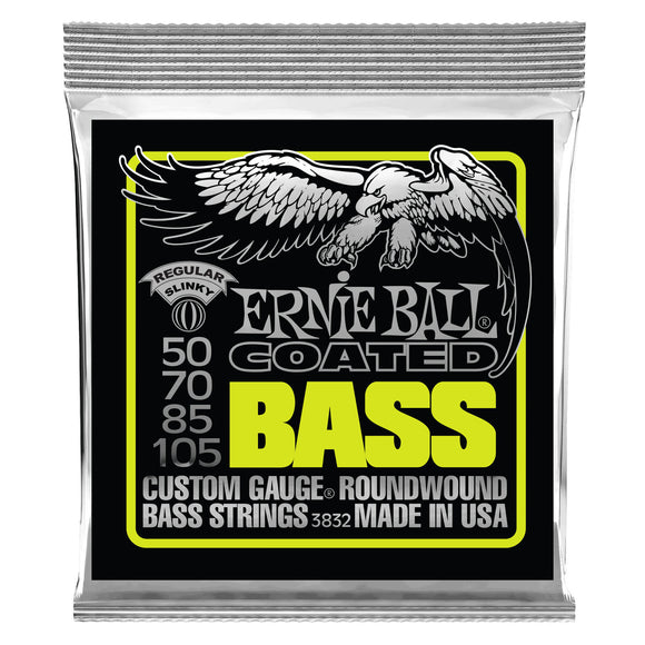 Ernie Ball 3832 Regular Slinky Coated Electric Bass Strings - 50-105 Gauge