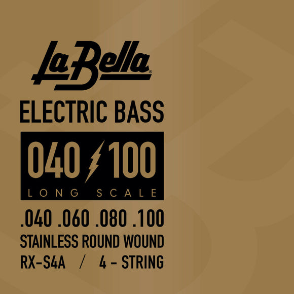 La Bella RX-S4A Rx Stainless Steel Bass Guitar Strings 40 60 80 100