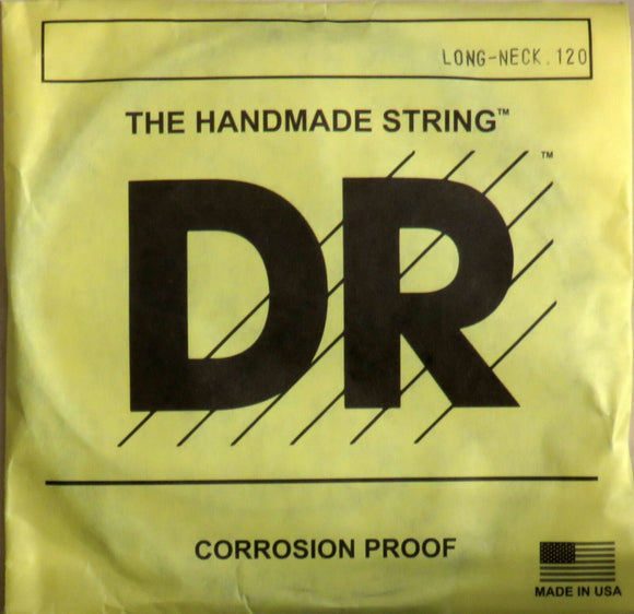 DR Strings TH-120 LONG NECKS Taper Core Bass SINGLE Low B String .120
