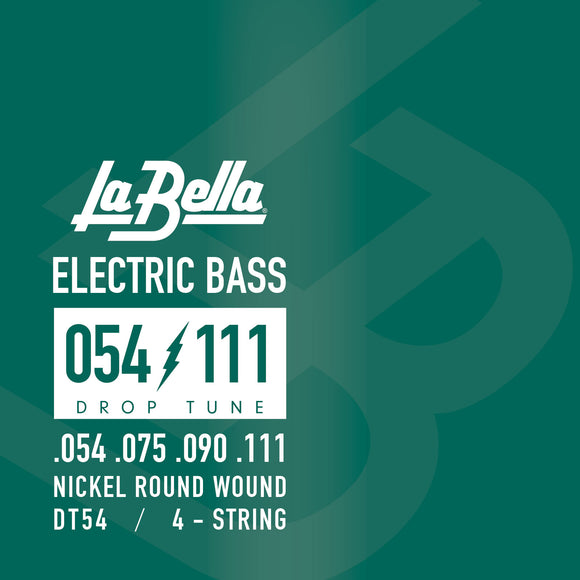 La Bella DT54 Drop Tune Bass Guitar Strings, Heavy 54-111