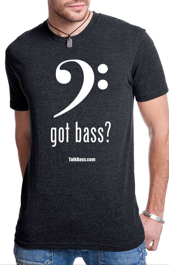 Got Bass?  Mens Crew T shirt - Vintage Black