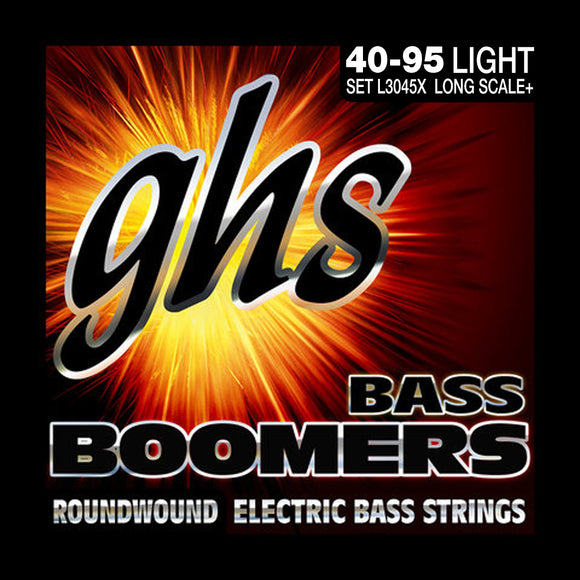 GHS L3045X Bass Boomers Bass Strings, Extra Long Scale, Light 40-95