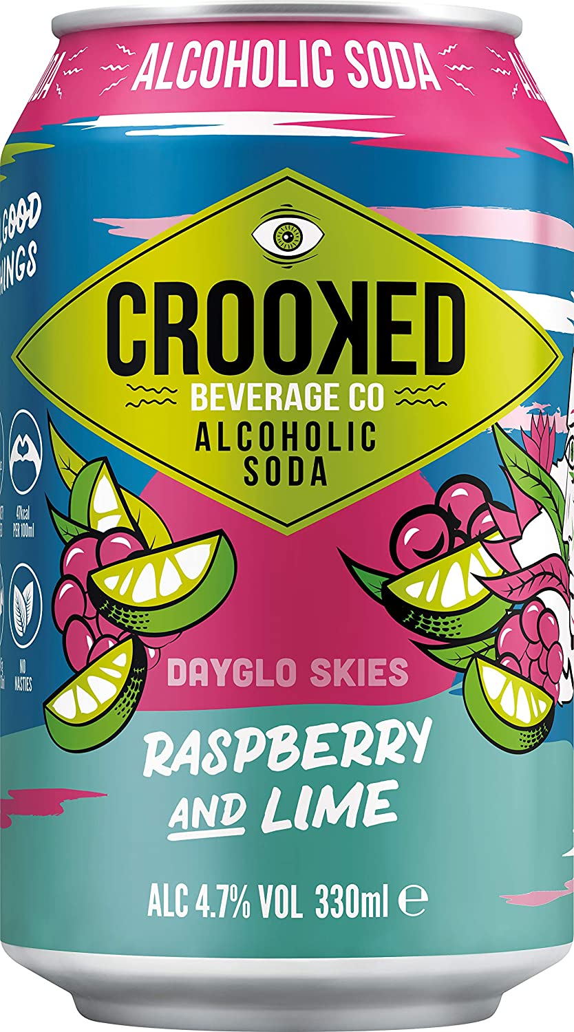Crooked Beverage Co - Raspberry & Lime Alcoholic Soda