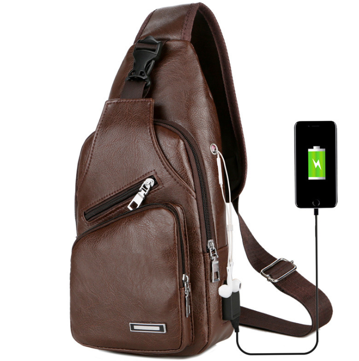 Men's Crossbody USB Chest Bag - Saving Trend