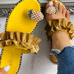 Pineapple Toe Ring Sandal - Saving Trend