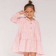 Load image into Gallery viewer, Mini Avalon Smock Dress | Candy Gingham