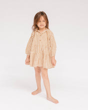 Load image into Gallery viewer, Mini Avalon Smock Dress | Caramel Gingham