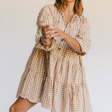 Load image into Gallery viewer, Avalon Smock Dress | Caramel Gingham