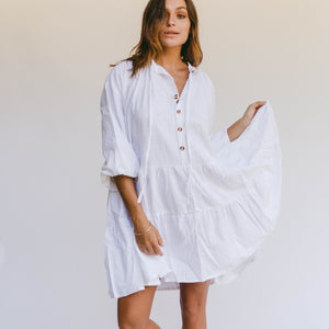 Avalon Smock Dress | White