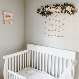Floral Hanging Wall, Flower Wall Art, Floral Wall Hanging, Flower Wall, Nursery Girl Decor, Flower Wall Decor, Floral Wall, Pink Rose Gold, Floral Garland, Flower Garland, Nursery Garland, Wedding Garland