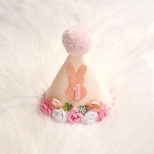 birthday party hat, first birthday, 1st birthday party hat, birthday crown, bunny birthday, some bunny is one