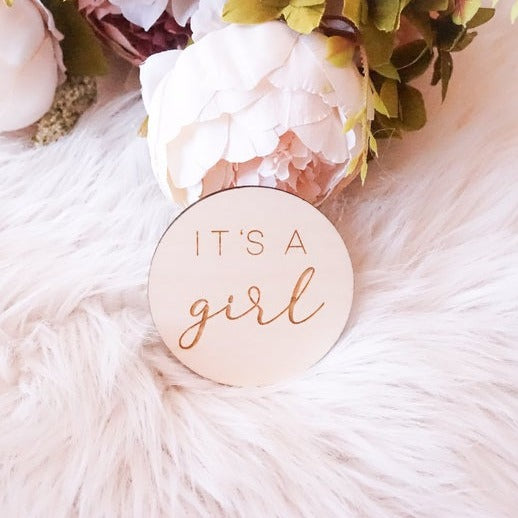 It's a Girl Sign, Engraved Gender Announcement, Gender Reveal, Baby Announcement, Newborn Announcement, Newborn Photography, fresh 48, maternity photos, birth announcements, fresh 48 sessions, newborn photos, baby shower gifts, maternity photography, maternity, girl mom, baby girl, girl decor, baby shower decor, baby shower photography