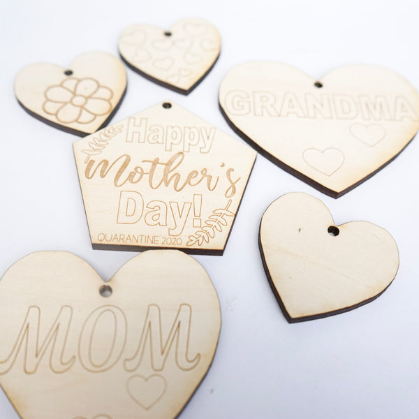 Color-Your-Own Wooden Mother's Day Ornaments, DIY Handmade Wooden Mother Day Decor, Homeschool Activity for Kids at Home, Boredom Activity, Gift for Mom, Gift for Grandma, Homemade Gift for Mom, Happy Mother's Day Gift, For Mom, For Grandma, preschool, easy diy projects, easy children, for teens, for preschoolers, easy mom, preschool homemade gifts, toddlers grandparents, preschool easy, at school classroom, mother mothers day gift from kids, cute, diy, simple unique, afterpay